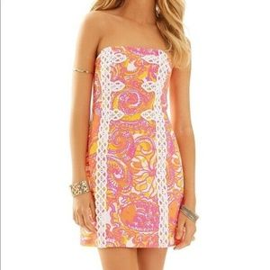 Lilly Pulitzer Tansy  Dress Strapless 4  NWOT
